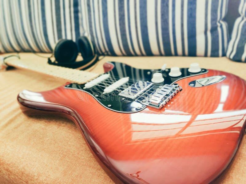 Fender Stratocaster Dostosowywał zdjęcia stock