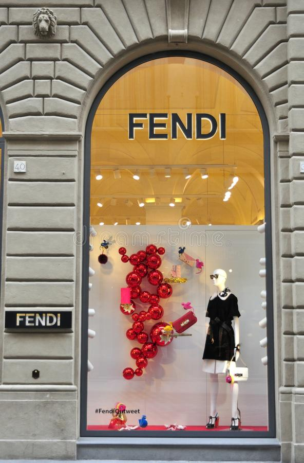 Fendi fashion brand shop in Florence, Italy stock photos