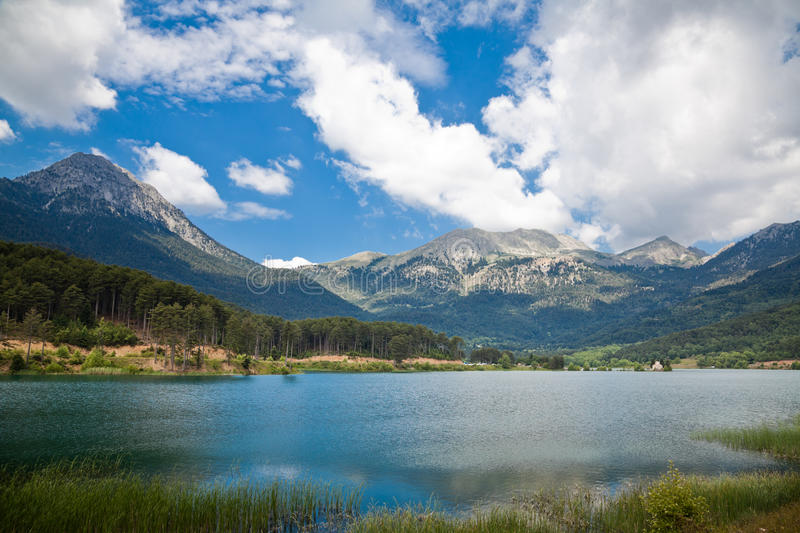 Feneos Lake also known as Doxa lake royalty free stock image