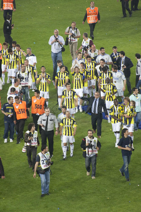 Fenerbahce Soccer Team stock photography