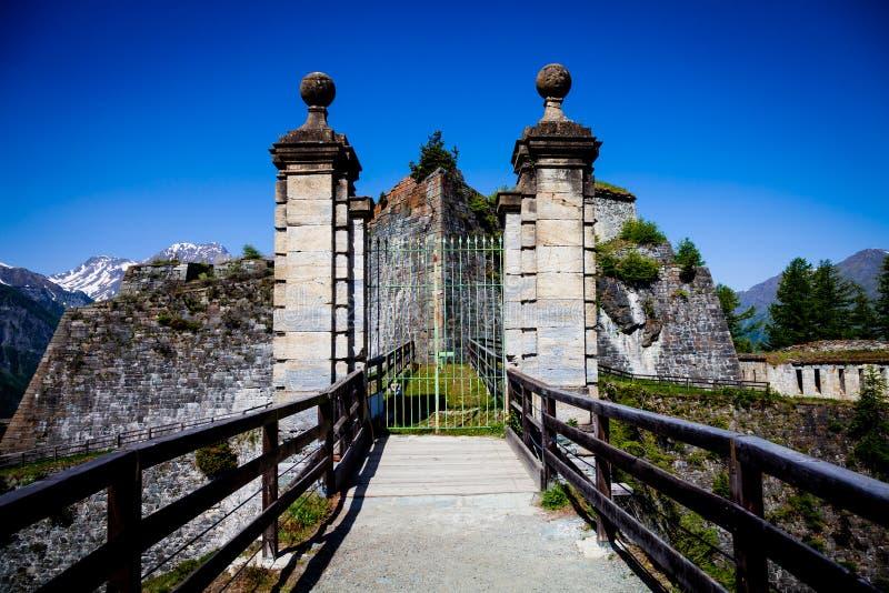 Fenestrelle övergav fortet arkivfoton