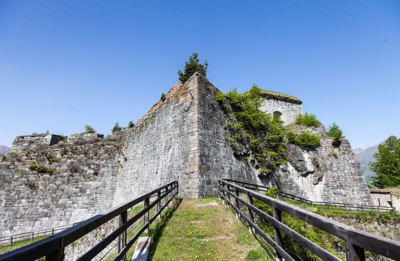 Fenestrelle Verlaten Fort stock afbeelding