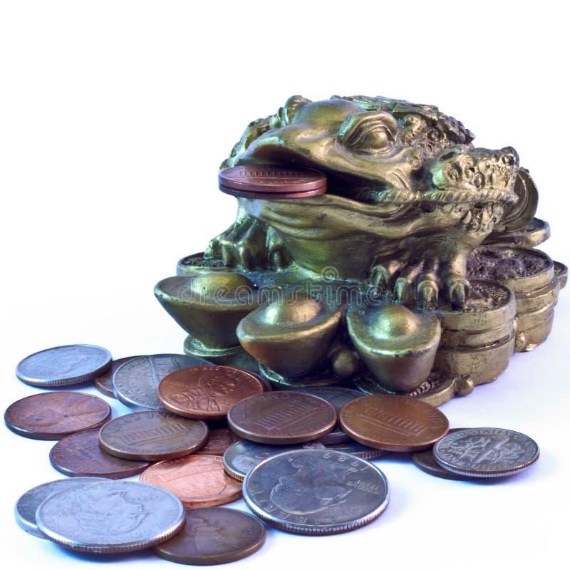 feng青蛙货币shui 免版税图库摄影