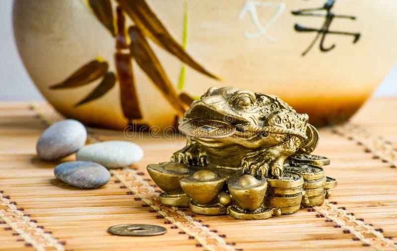 Feng-shui żaba obrazy royalty free