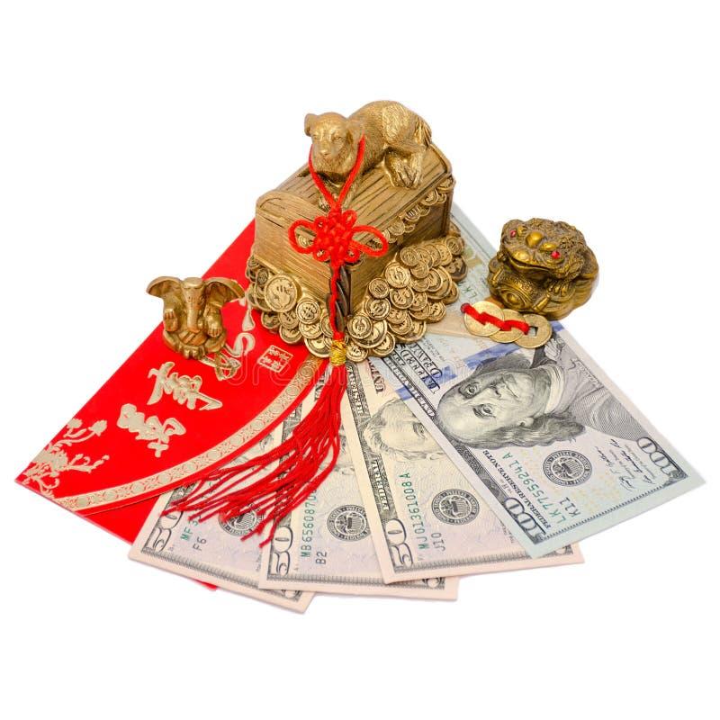 Feng Shui-amuletten die geld en succesvolle zaken aantrekken stock fotografie