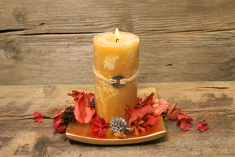 Download Feng Shui Candle And Pot Pourri Stock Photo - Image: 4932300