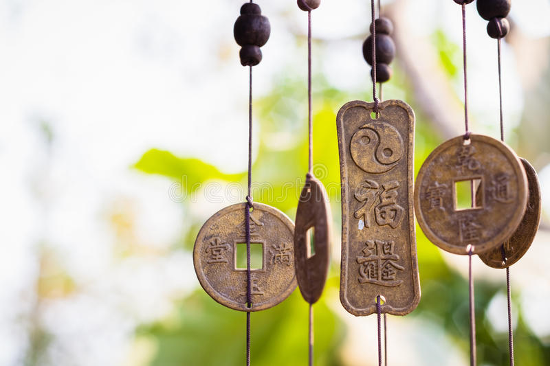 Feng Shui chimes royalty free stock images
