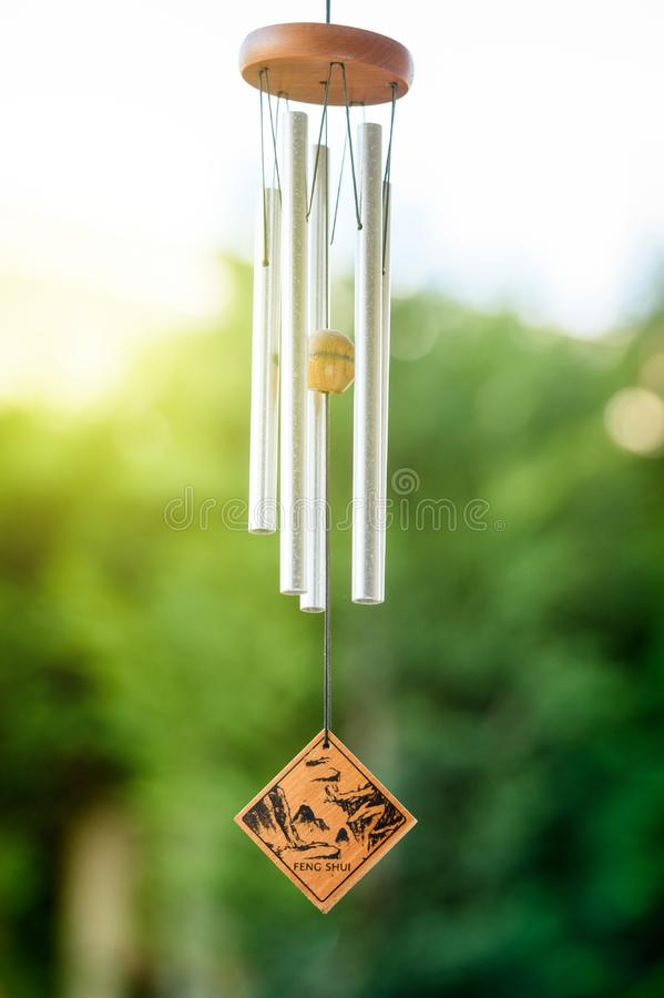 Free Feng Shui Chimes With Nature In The Background Royalty Free Stock Images - 81858519