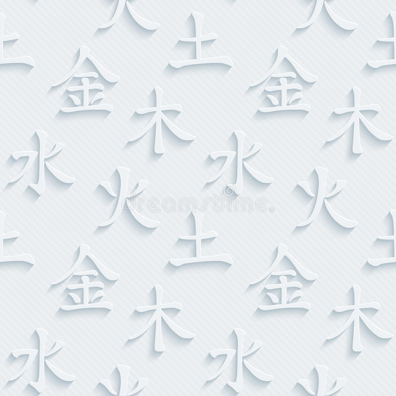 Feng Shui. Five Elements. royalty free illustration