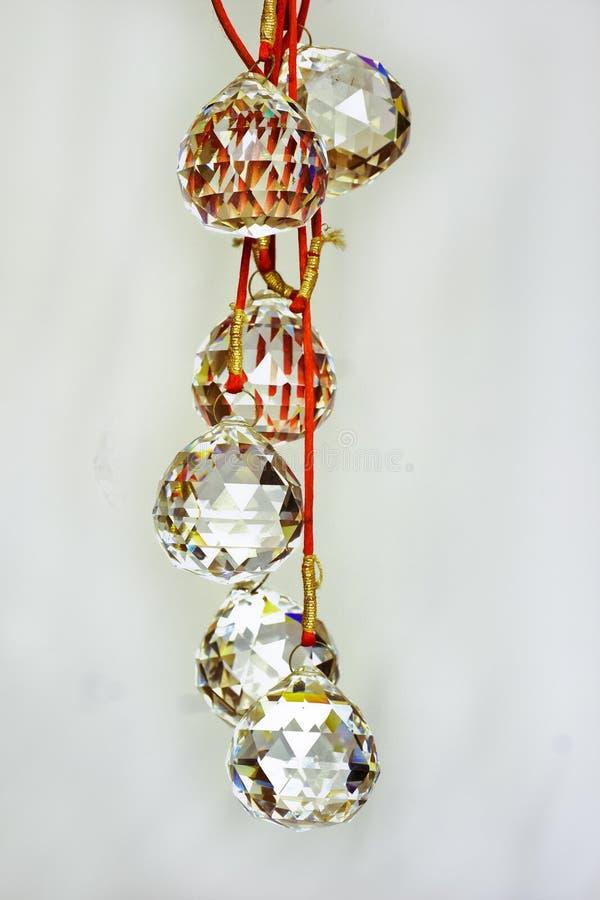 Feng shui glass danglers royalty free stock photo