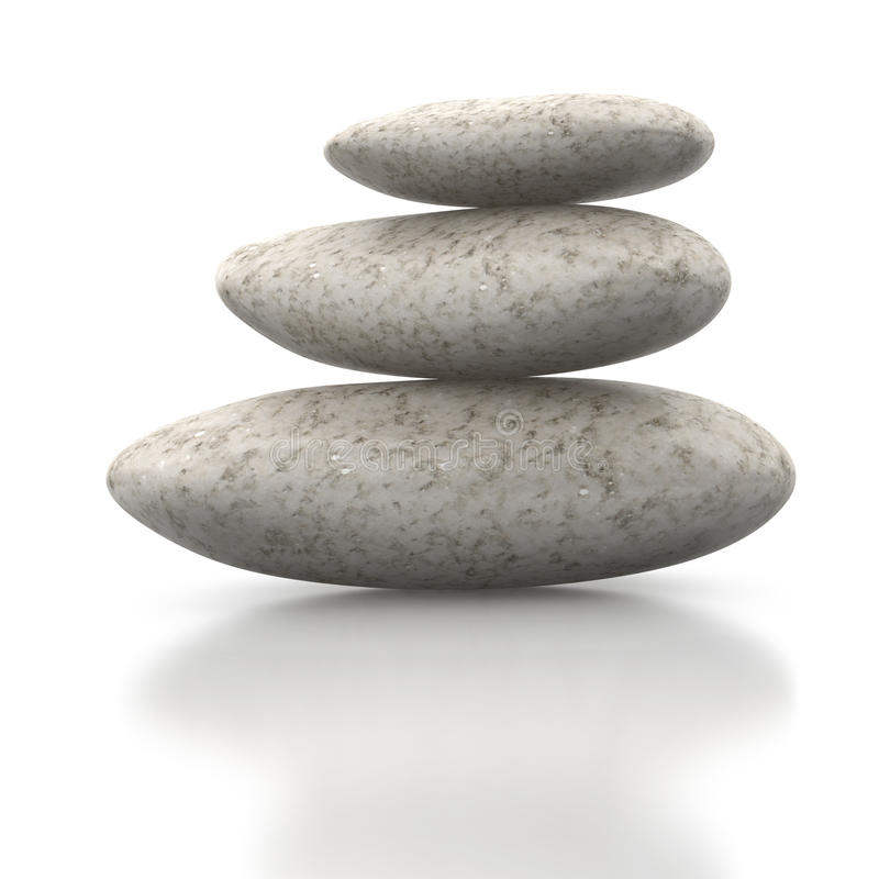 Feng Shui stones or pebbles royalty free stock images