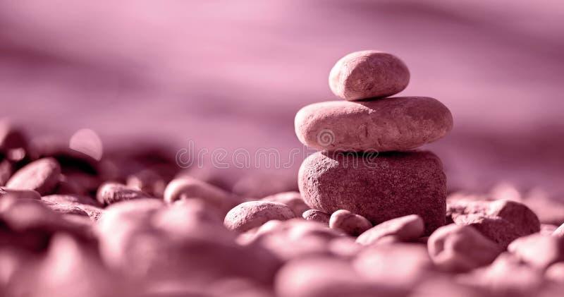 Feng shuibaner i rosa färger arkivfoton
