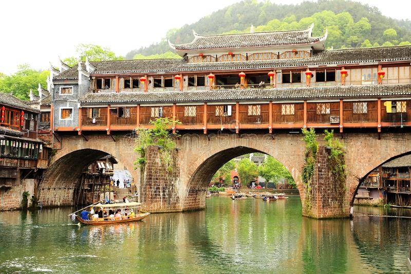 Fenghuang Ancient City, as a national historical and cultural city, the first batch of strong tourist counties in China. Located in Hunan Province, Xiangxi royalty free stock photography