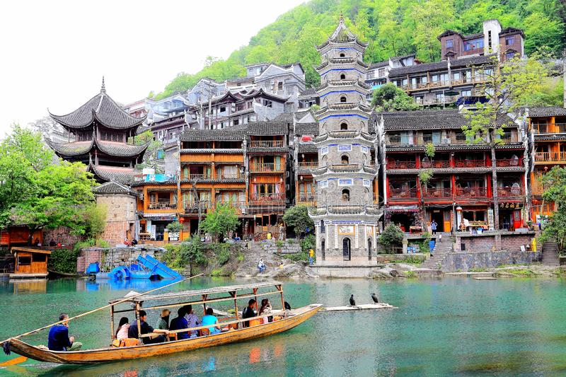 Fenghuang Ancient City, as a national historical and cultural city, the first batch of strong tourist counties in China. Located in Hunan Province, Xiangxi stock photos