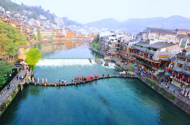 Download Fenghuang ancient town editorial stock photo. Image of nature - 34533613