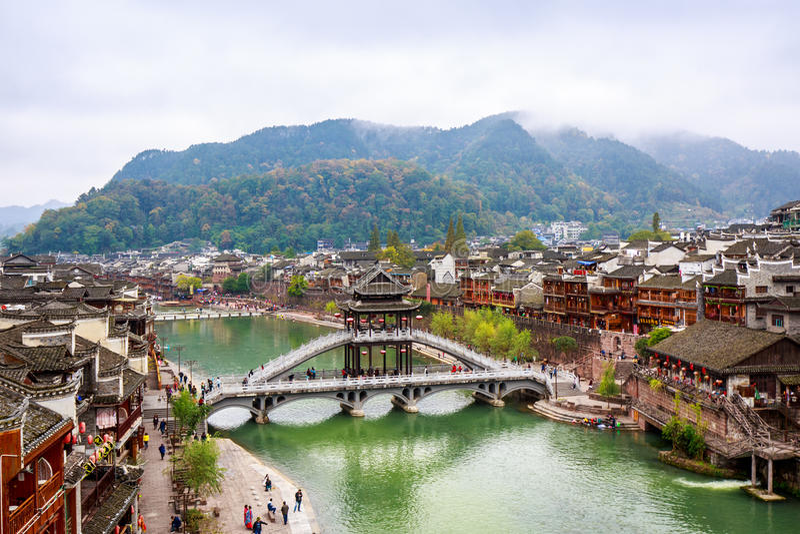Fenghuang, China stockfotos