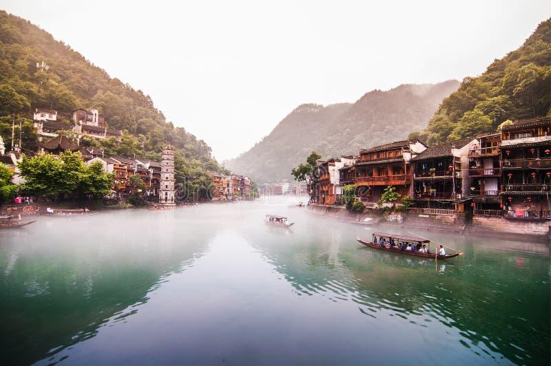 Fenghuang, de oude stad van Hunan, China stock foto