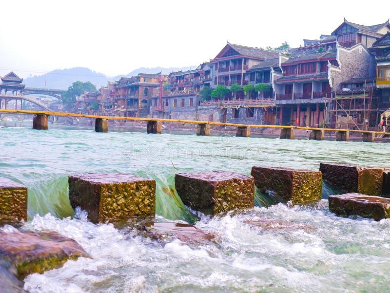Fenghuang forntida stad royaltyfri fotografi