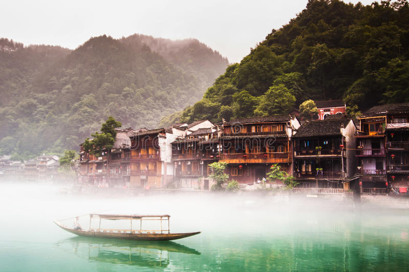 Fenghuang Hunan, Kina gammal stad arkivfoton