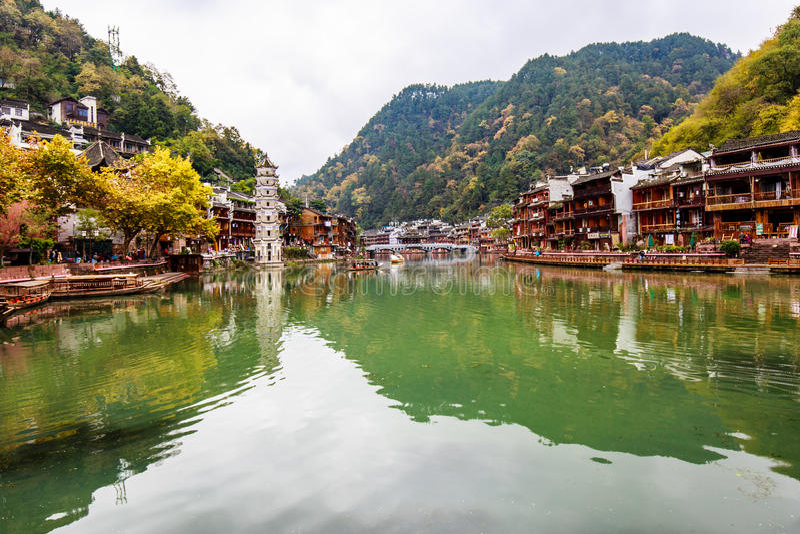 Fenghuang Kina arkivbilder