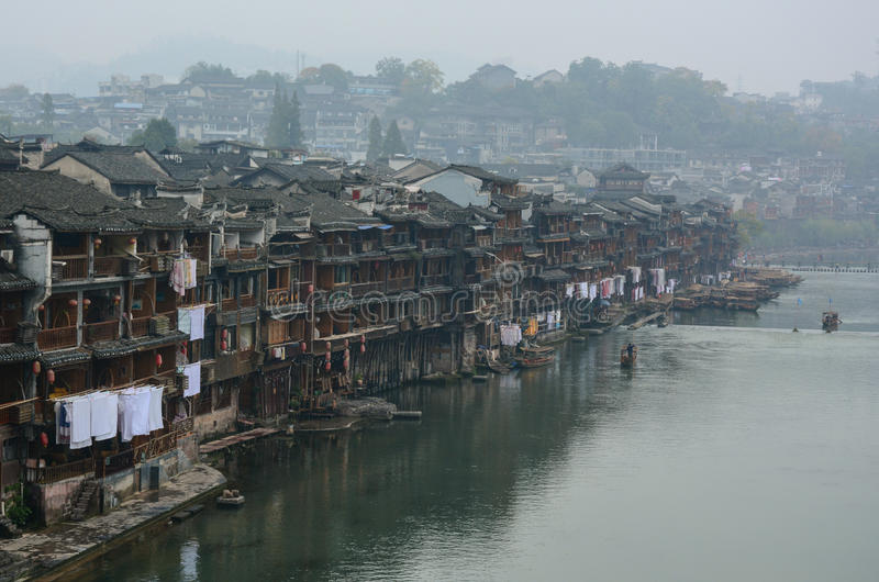 Fenghuang miasteczko w Hunan, Chiny obrazy royalty free