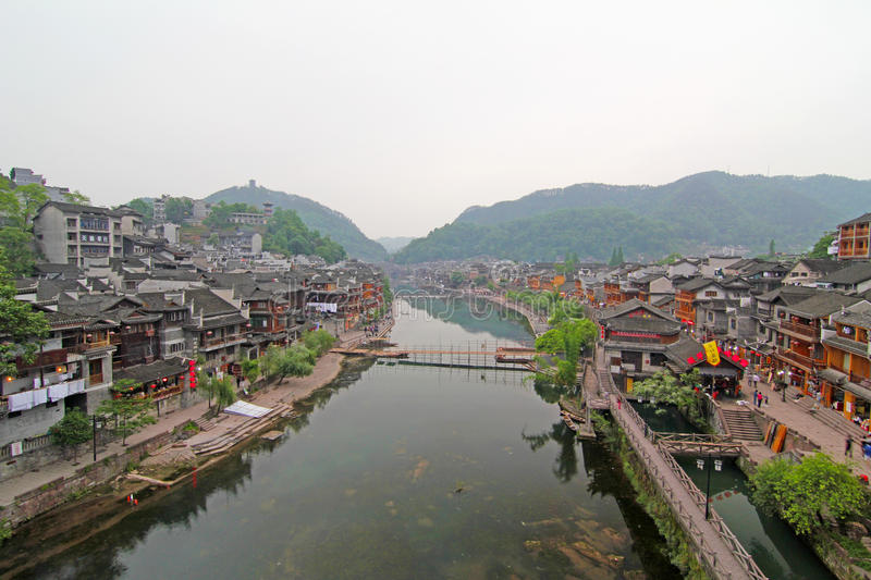 Fenghuang oude stad in China royalty-vrije stock foto