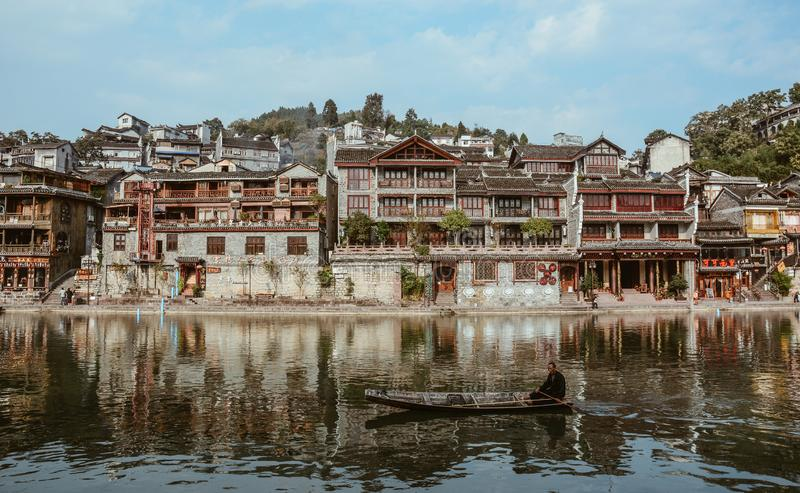 Fenghuang Oude Stad in Hunan, China stock foto
