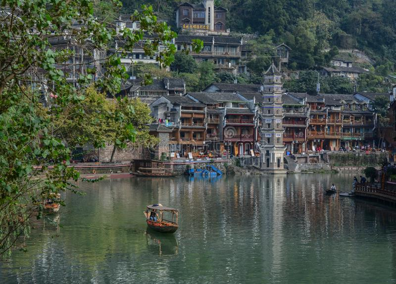 Fenghuang Oude Stad in Hunan, China stock fotografie
