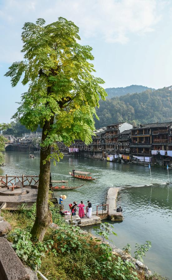 Fenghuang Oude Stad in Hunan, China royalty-vrije stock fotografie