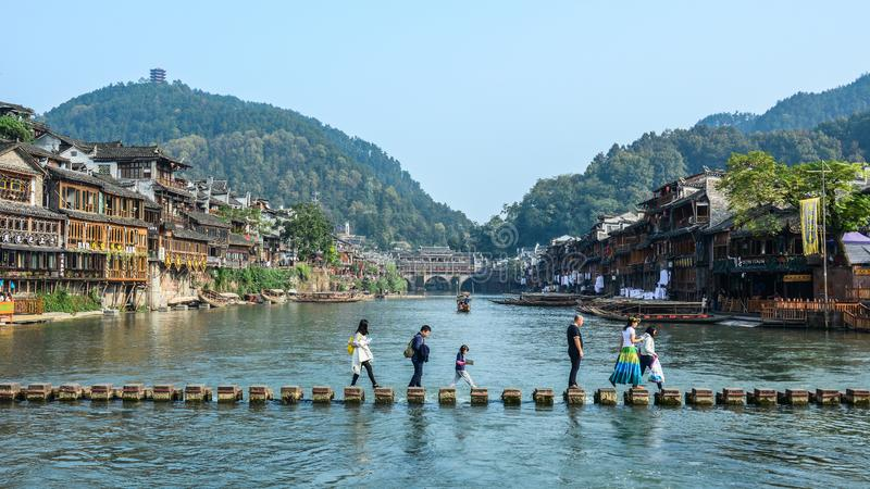 Fenghuang Oude Stad in Hunan, China royalty-vrije stock afbeelding