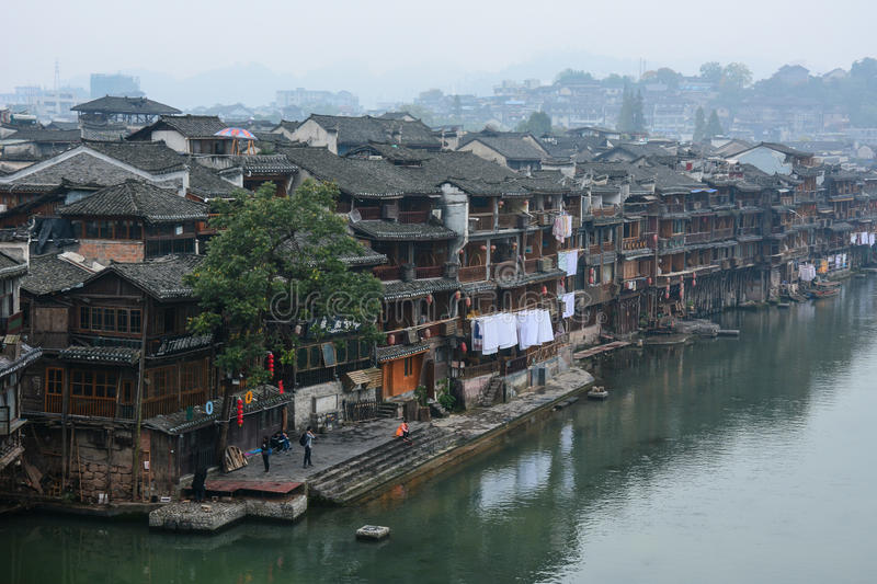 Fenghuangstad in Hunan, China royalty-vrije stock afbeelding