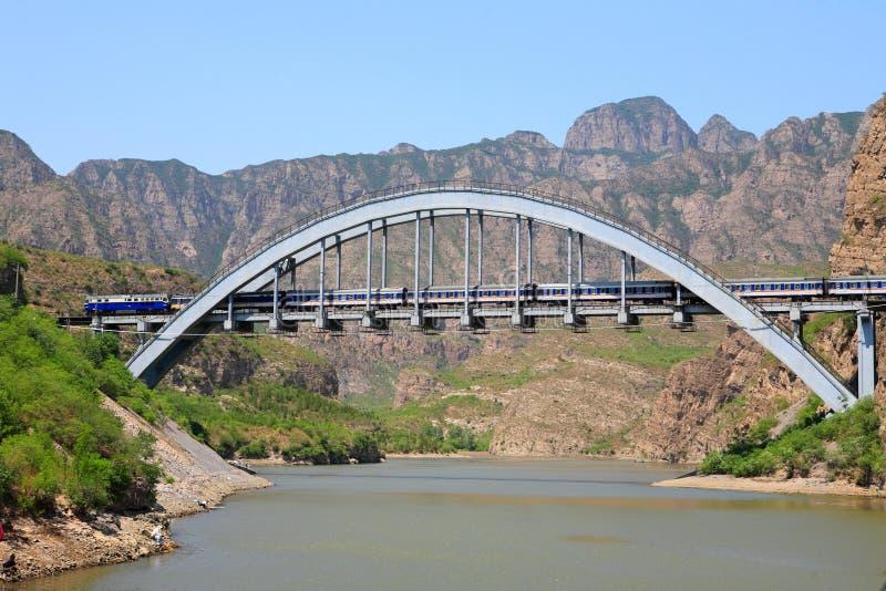 Fengsha Eisenbahnbrücke stockbild