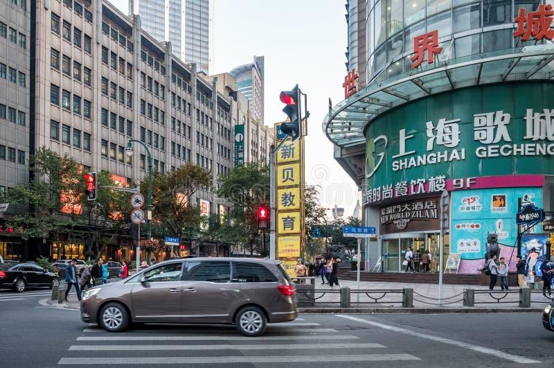 Fengyang väg, Shanghai, Kina fotografering för bildbyråer