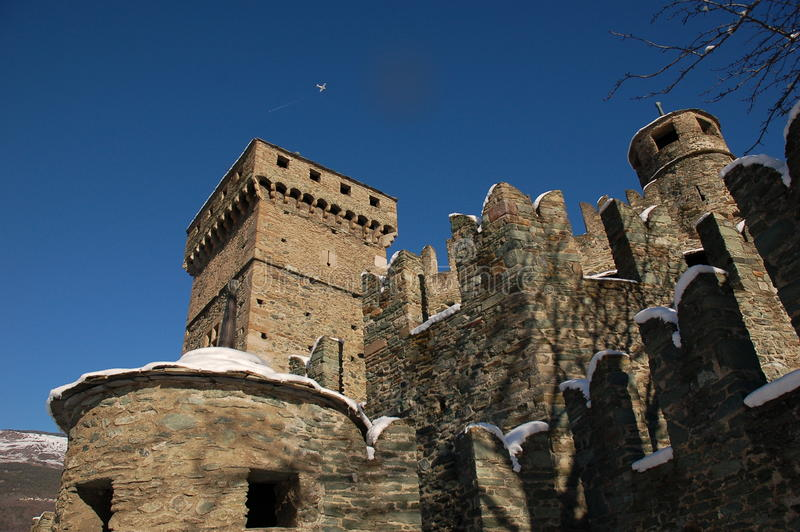 Fenis城堡-奥斯塔-意大利3 免版税图库摄影