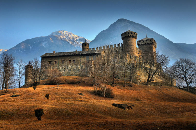 Fenis Castle. Picture of the Fenis Castle in Aosta (Italy royalty free stock photos