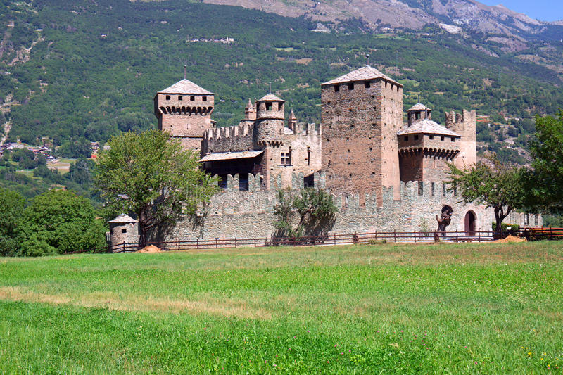 Download Fenis Castle - Aosta - Italy Stock Image - Image: 21302279