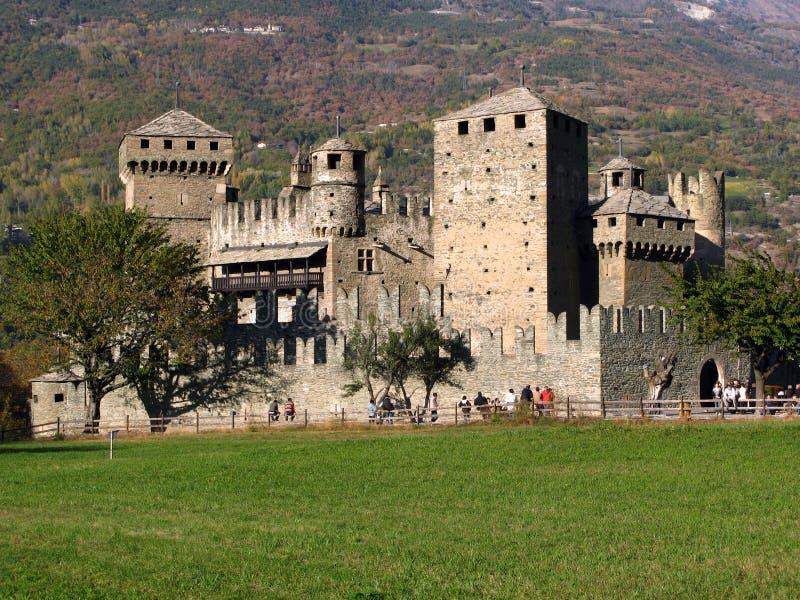 Fenis Castle, Aosta, Italy Royalty Free Stock Photos