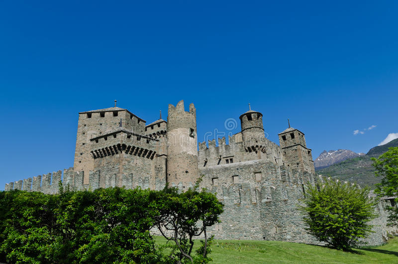 Download Fenis Castle - Aosta Valley - Italy Stock Image - Image of tourism, ages: 32949935