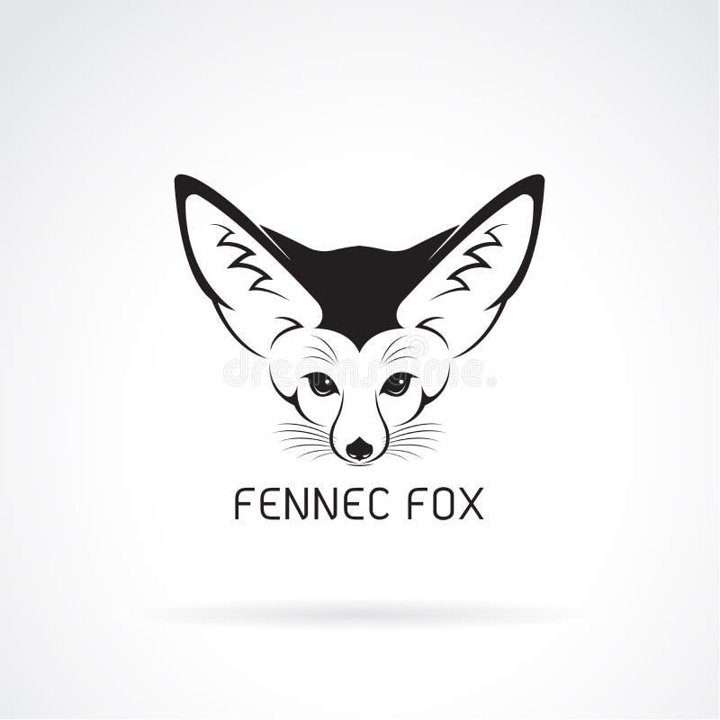 Fennec在白色背景的狐狸头传染媒介  向量例证