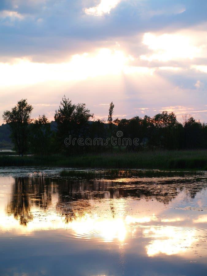 Fenomenal solnedgång arkivfoto