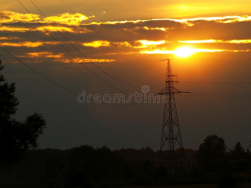 Fenomenal solnedgång royaltyfria bilder