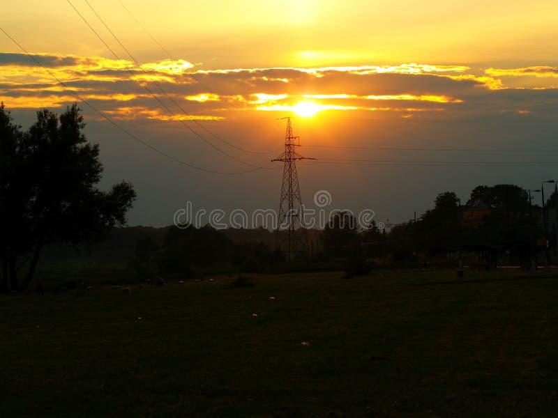 Fenomenale zonsondergang stock afbeelding