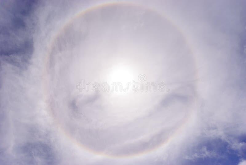 Fenomeno di alone di Sun fotografia stock
