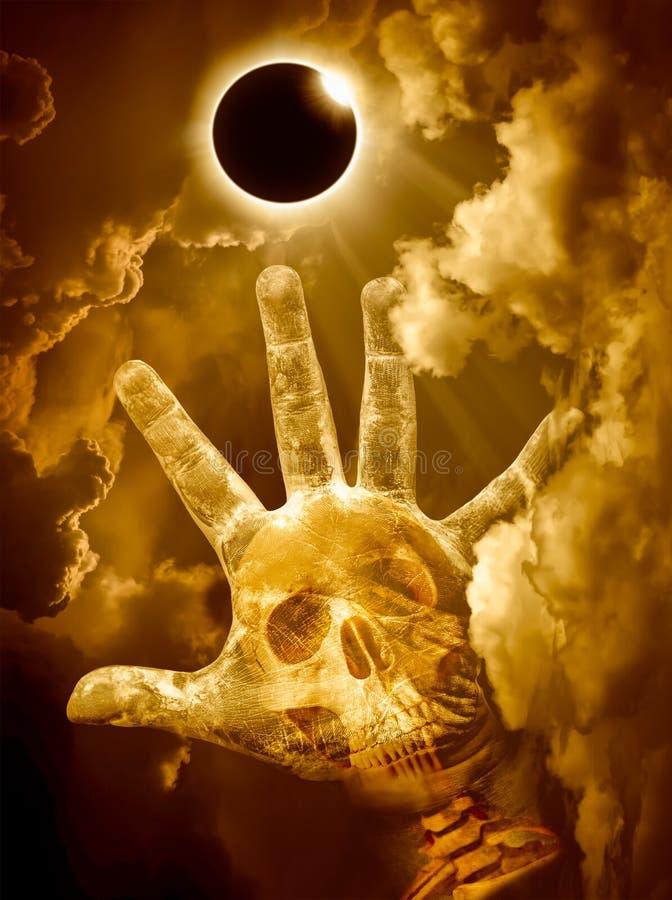 Fenomeno naturale scientifico Eclissi solare totale con il diamante fotografie stock