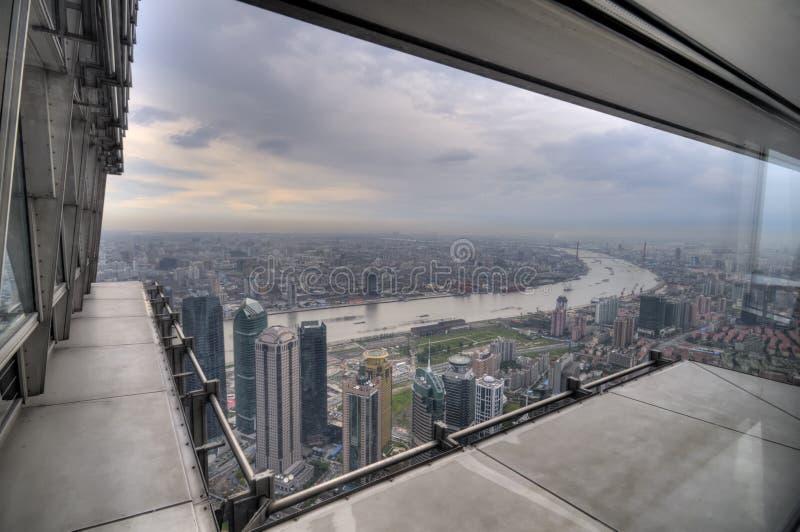 Fenster-Ansicht von Shanghai stockfoto