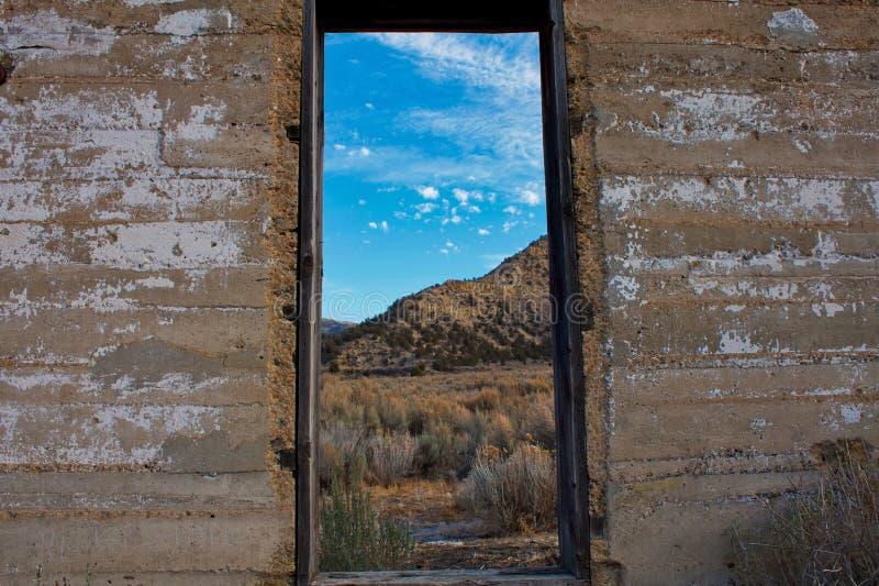 Fenster auf Baxter Pass lizenzfreies stockbild
