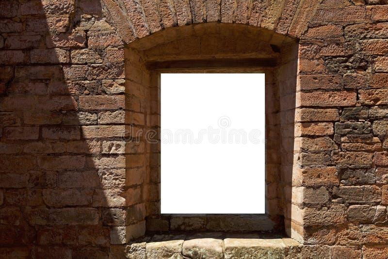 Fenster auf dem lokalisierten Hintergrund lizenzfreie stockfotos