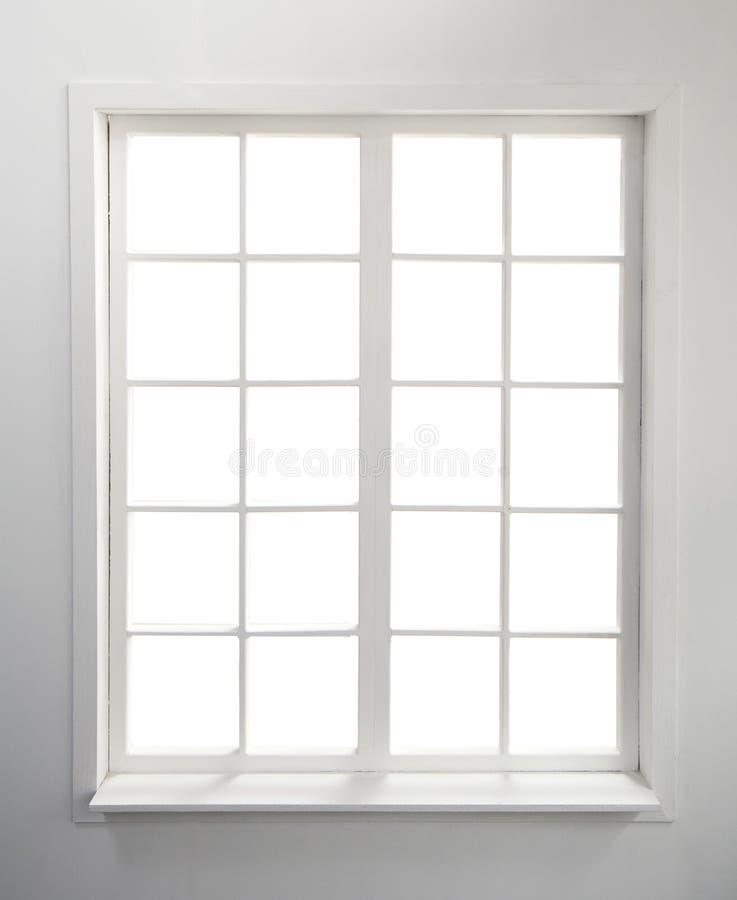 Fenster auf Weiß lizenzfreie stockfotos