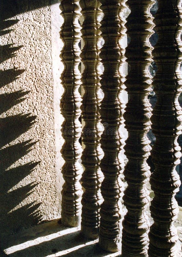 Fenster bei Angkor Wat in Kambodscha lizenzfreie stockbilder