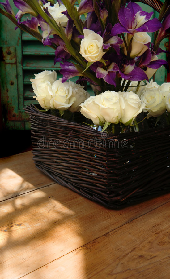 Fenster-Blumen lizenzfreies stockfoto